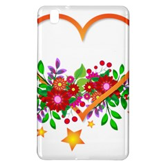 Heart Flowers Sign Samsung Galaxy Tab Pro 8 4 Hardshell Case by Nexatart