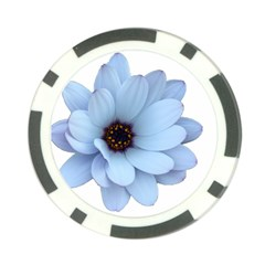 Daisy Flower Floral Plant Summer Poker Chip Card Guard by Nexatart