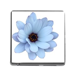 Daisy Flower Floral Plant Summer Memory Card Reader (square)
