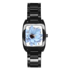 Daisy Flower Floral Plant Summer Stainless Steel Barrel Watch by Nexatart