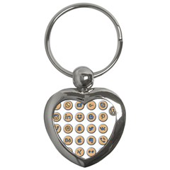 Social Media Icon Icons Social Key Chains (heart)  by Nexatart