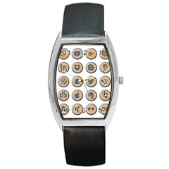 Social Media Icon Icons Social Barrel Style Metal Watch by Nexatart