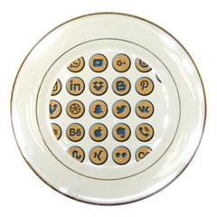 Social Media Icon Icons Social Porcelain Plates by Nexatart