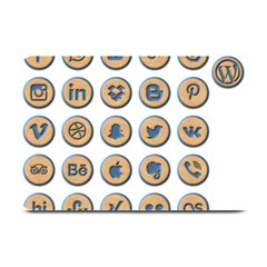 Social Media Icon Icons Social Plate Mats by Nexatart