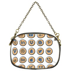 Social Media Icon Icons Social Chain Purses (two Sides)  by Nexatart