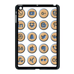 Social Media Icon Icons Social Apple Ipad Mini Case (black) by Nexatart