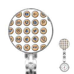 Social Media Icon Icons Social Stainless Steel Nurses Watch by Nexatart