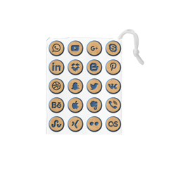 Social Media Icon Icons Social Drawstring Pouches (small)  by Nexatart
