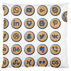 Social Media Icon Icons Social Standard Flano Cushion Case (two Sides) by Nexatart