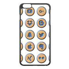 Social Media Icon Icons Social Apple Iphone 6 Plus/6s Plus Black Enamel Case by Nexatart