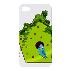 Bluebird Bird Birdhouse Avian Apple Iphone 4/4s Hardshell Case by Nexatart