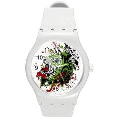 Do It Sport Crossfit Fitness Round Plastic Sport Watch (m) by Nexatart