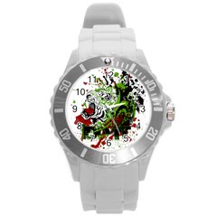 Do It Sport Crossfit Fitness Round Plastic Sport Watch (l)