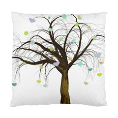 Tree Fantasy Magic Hearts Flowers Standard Cushion Case (one Side)