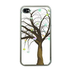 Tree Fantasy Magic Hearts Flowers Apple Iphone 4 Case (clear) by Nexatart