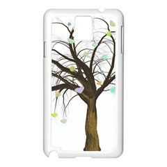 Tree Fantasy Magic Hearts Flowers Samsung Galaxy Note 3 N9005 Case (white)