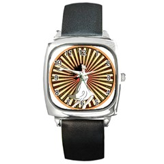 Woman Power Glory Affirmation Square Metal Watch by Nexatart
