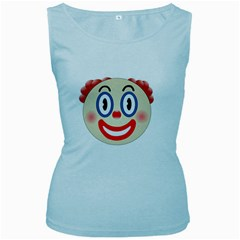 Clown Funny Make Up Whatsapp Women s Baby Blue Tank Top by Nexatart