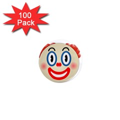 Clown Funny Make Up Whatsapp 1  Mini Magnets (100 Pack)  by Nexatart