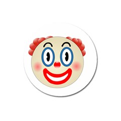 Clown Funny Make Up Whatsapp Magnet 3  (round) by Nexatart