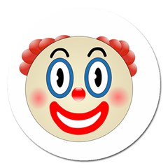Clown Funny Make Up Whatsapp Magnet 5  (round) by Nexatart