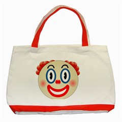 Clown Funny Make Up Whatsapp Classic Tote Bag (red)