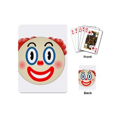 Clown Funny Make Up Whatsapp Playing Cards (mini)  by Nexatart