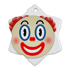Clown Funny Make Up Whatsapp Ornament (snowflake) by Nexatart