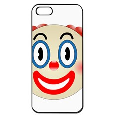 Clown Funny Make Up Whatsapp Apple Iphone 5 Seamless Case (black) by Nexatart