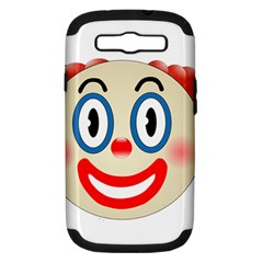 Clown Funny Make Up Whatsapp Samsung Galaxy S Iii Hardshell Case (pc+silicone) by Nexatart