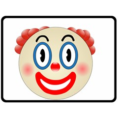 Clown Funny Make Up Whatsapp Double Sided Fleece Blanket (large)