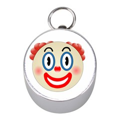 Clown Funny Make Up Whatsapp Mini Silver Compasses by Nexatart