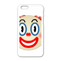 Clown Funny Make Up Whatsapp Apple Iphone 6/6s White Enamel Case by Nexatart