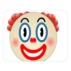 Clown Funny Make Up Whatsapp Double Sided Flano Blanket (large)  by Nexatart