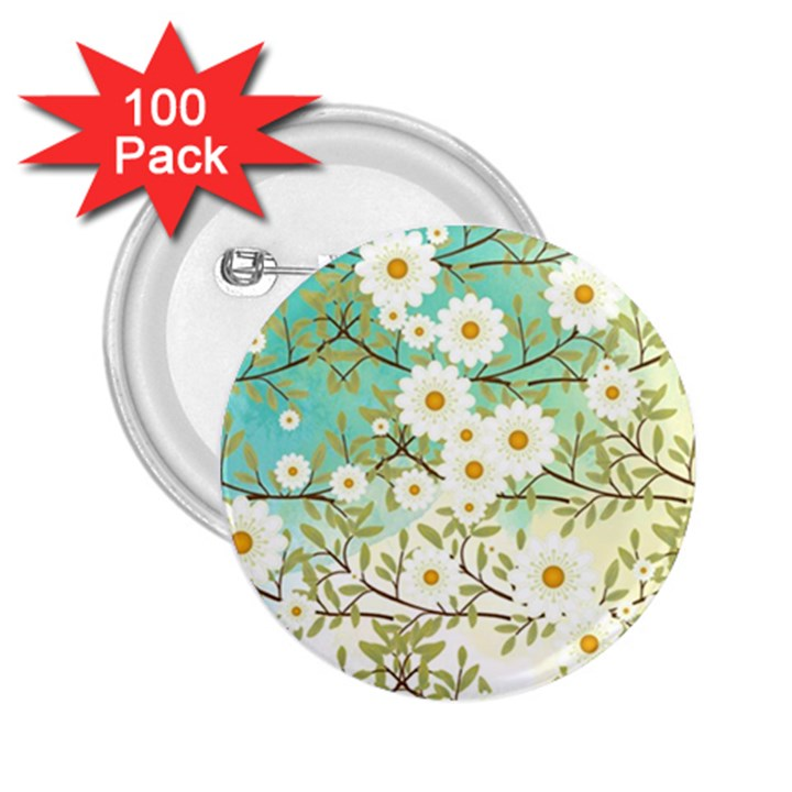 Springtime Scene 2.25  Buttons (100 pack)