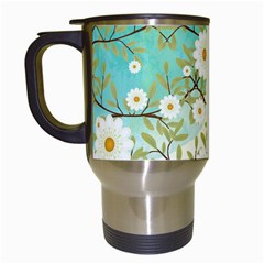 Springtime Scene Travel Mugs (white) by linceazul