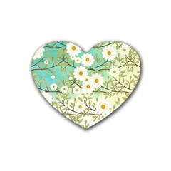 Springtime Scene Heart Coaster (4 Pack)  by linceazul