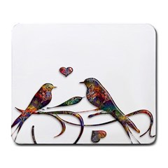 Birds Abstract Exotic Colorful Large Mousepads