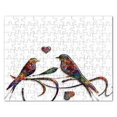 Birds Abstract Exotic Colorful Rectangular Jigsaw Puzzl