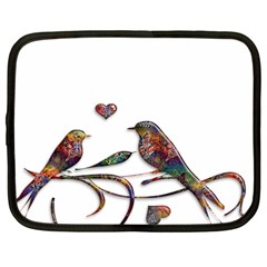 Birds Abstract Exotic Colorful Netbook Case (large) by Nexatart