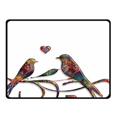 Birds Abstract Exotic Colorful Fleece Blanket (small)