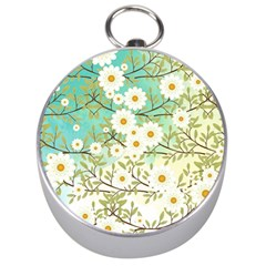 Springtime Scene Silver Compasses by linceazul