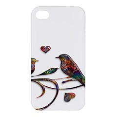 Birds Abstract Exotic Colorful Apple Iphone 4/4s Premium Hardshell Case