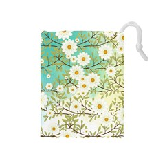 Springtime Scene Drawstring Pouches (medium)  by linceazul