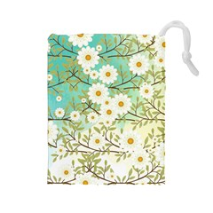 Springtime Scene Drawstring Pouches (large)  by linceazul