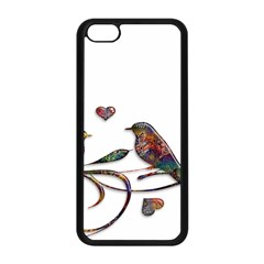 Birds Abstract Exotic Colorful Apple Iphone 5c Seamless Case (black) by Nexatart