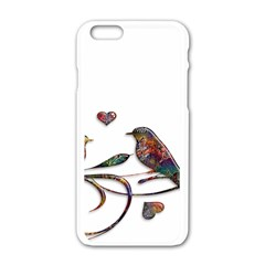 Birds Abstract Exotic Colorful Apple Iphone 6/6s White Enamel Case by Nexatart