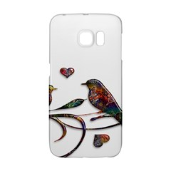 Birds Abstract Exotic Colorful Galaxy S6 Edge by Nexatart
