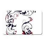 Scroll Border Swirls Abstract Magnet (Rectangular) Front