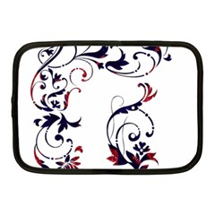 Scroll Border Swirls Abstract Netbook Case (medium)  by Nexatart